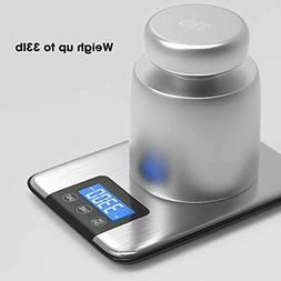 Nicewell 33lbs 15kgs Max Digital Kitchen Scale, Accurate Mul