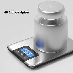 Nicewell 33lbs 15kgs Max Digital Kitchen Scale Accurate Mult
