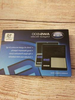 American Weigh Scales 600 Black Digital Weight Scale New in