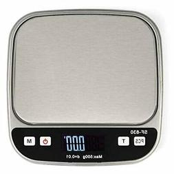 Boldall Portable Digital Kitchen Food Scale with Black Cover