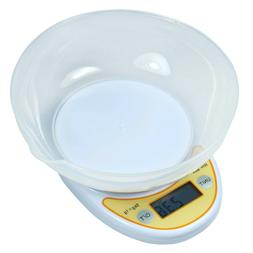 Compact 5Kg /11lbs Digital Kitchen Diet Food Scale - Removab