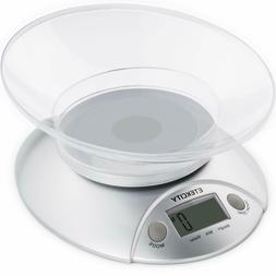 Etekcity Digital Food Kitchen Weight Scale with Removable Bo