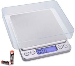 Fuzion Digital Kitchen Scale 3000g/ 0.1g, Pocket Food 6 Unit