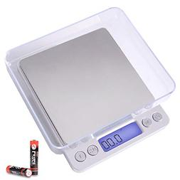 Digital Kitchen Scale with 2 Trays Tare Function 3000g*0.1g