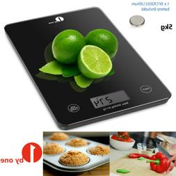 1byone Digital Kitchen Scales Food Scale Tempered Glass Elec