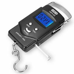 Dr.meter Backlit LCD Display Fishing Scale, 110lb 50kg Elect