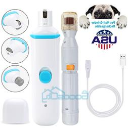 Electric Paws Nail Trimmer Grinder Grooming Tool Care Clippe