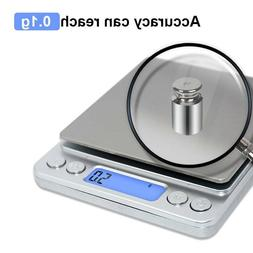 Digital Electronic Kitchen Scale Pocket Food Mini Weight LCD