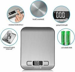 Food Digital Kitchen Weight Scale Grams and Oz, Small, Stain