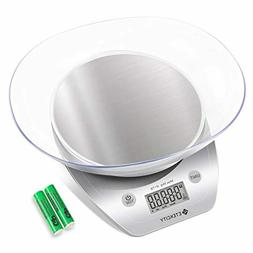 Etekcity Food Scale with Bowl, Digital Kitchen Weight Grams