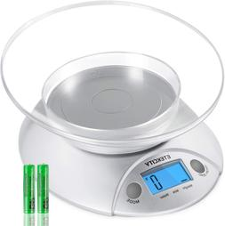 food scale with bowl digital kitchen weight