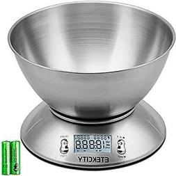 Etekcity Food Scale with Bowl, Timer, and Temperature Sensor