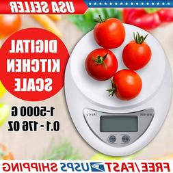 Digital Kitchen Food Cooking Scale Weigh in Pounds, Grams, T