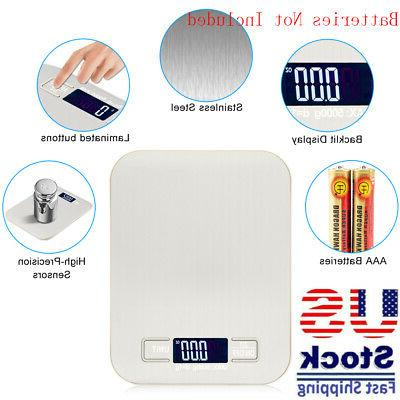 5kg 1g lcd stainless steel electronic digital