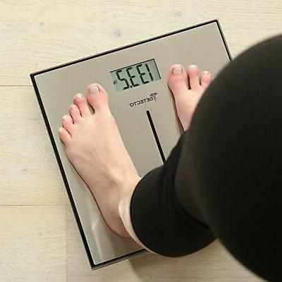 Detecto D133 Deluxe Stainless Bathroom Scale, L