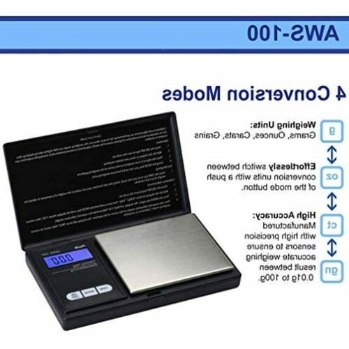 Digital Pocket Weight Scale 0.1 Accuracy Up to grams AWS