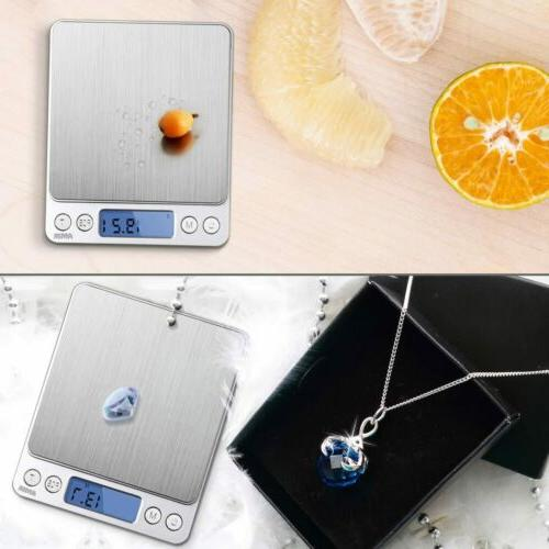Digital Scale 3000g 0.1g Jewelry Gold Coin Size Herb Grain