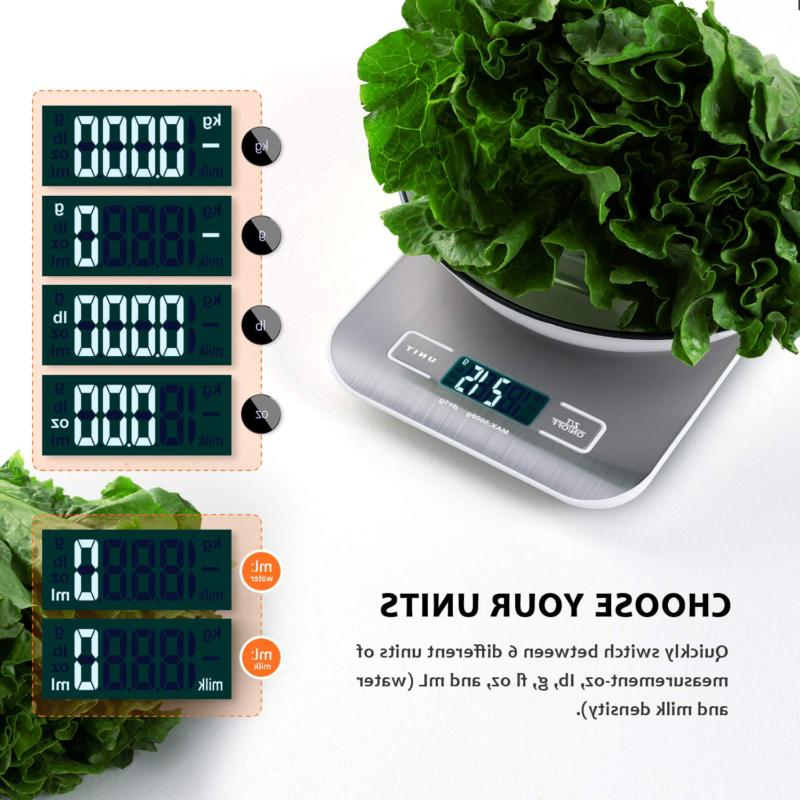 Kitchen Scale, Digital Food Scale, Multifunction LCD