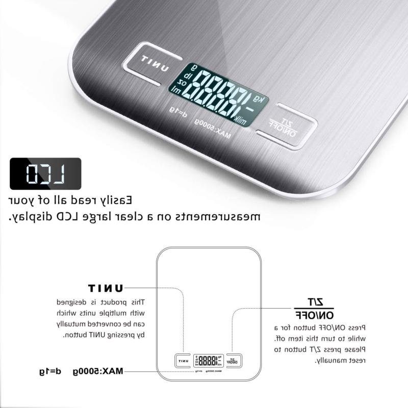 Kitchen Scale, Multifunction LCD