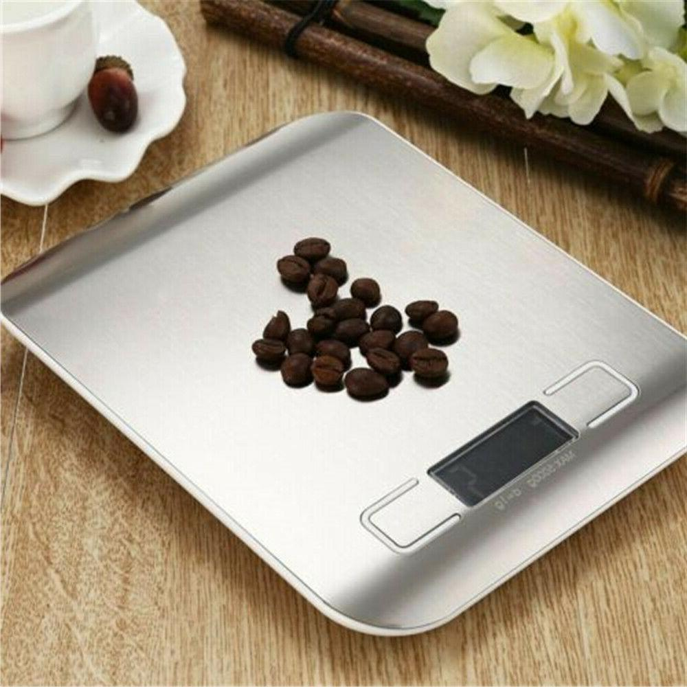 Kitchen Weight Scale Steel Food Diet Postal Scale 11LB 5KG USA