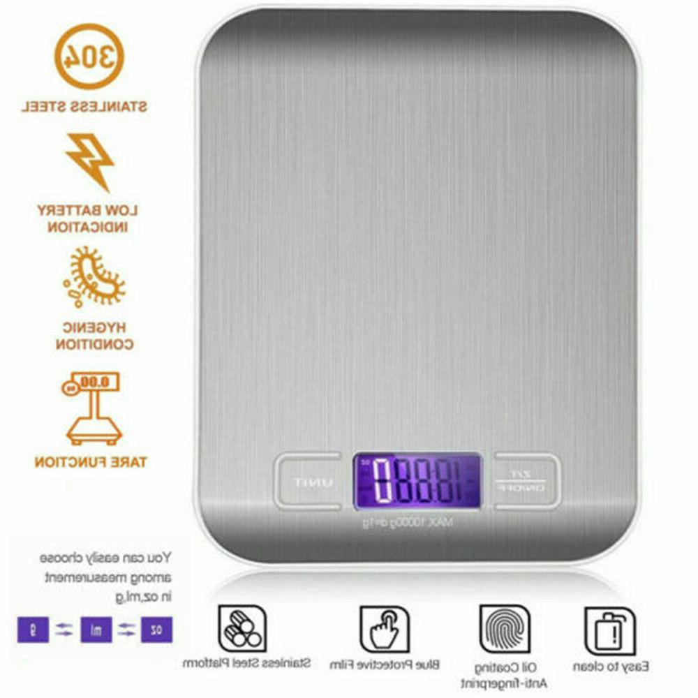 Kitchen Stainless Steel Scale 11LB 5KG Digital USA