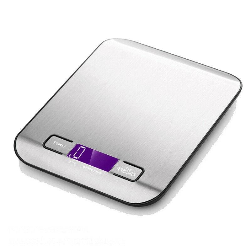 Kitchen Weight Steel Food Scale 5KG LED