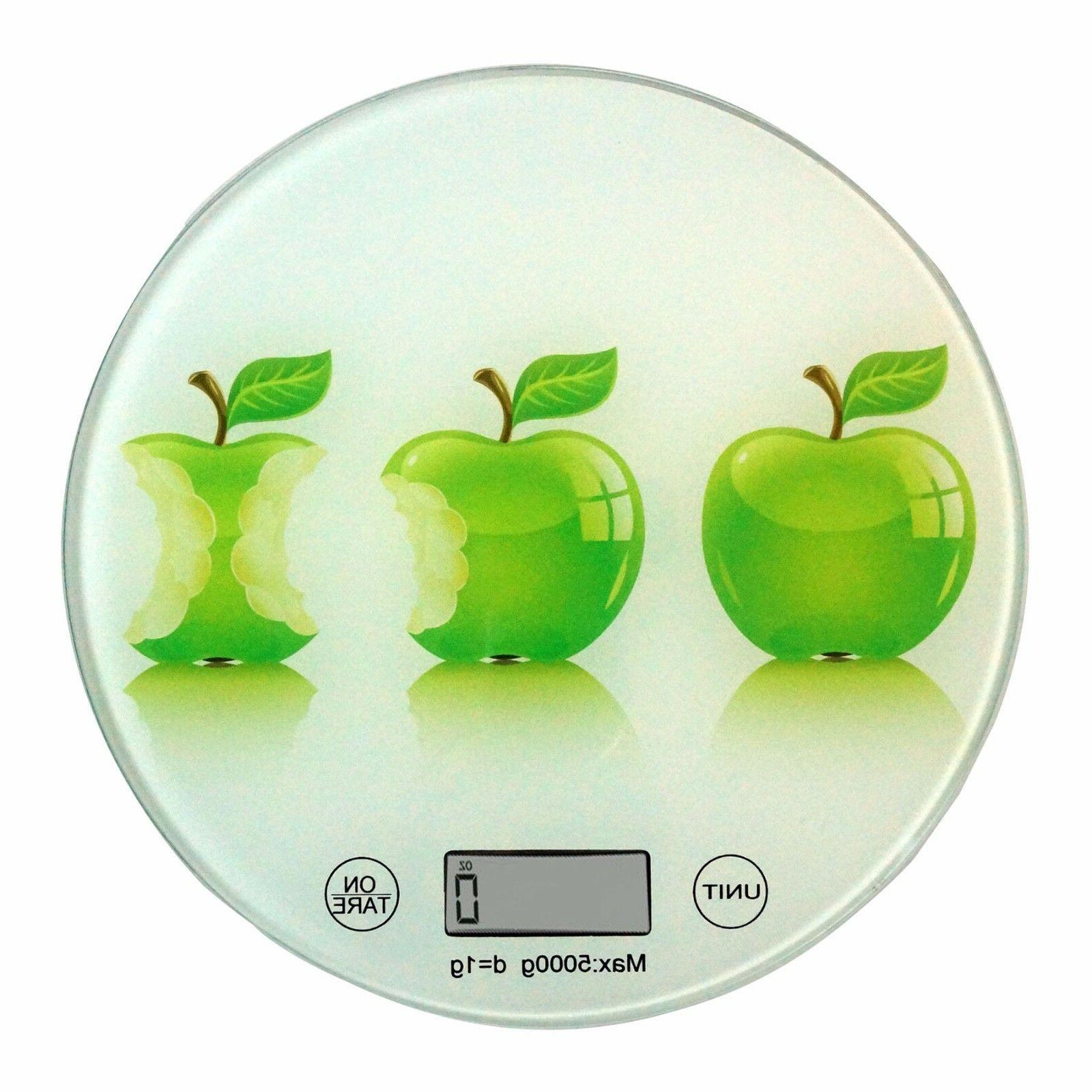 Round Glass Apples Painted ideal Measuring