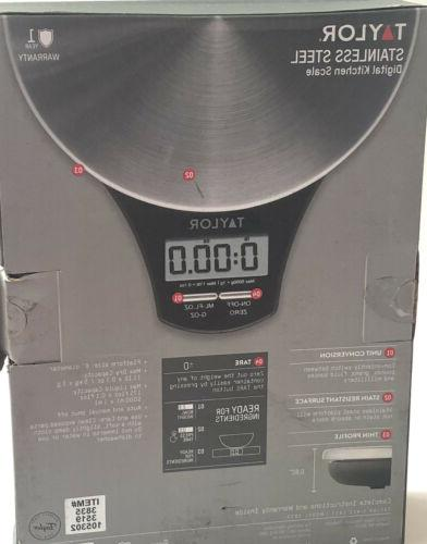 TAYLOR Stainless Steel Digital Kitchen Up 11 New!