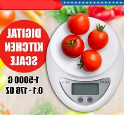 LCD Digital Kitchen Scale Diet Food Balance 5KG 11LBS Electr