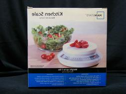 Mainstay Round Kitchen Digital Scale White Color 7lb Capacit