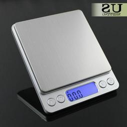 Mini Precision Digital Gram Jewelry Scale Kitchen Food Weigh