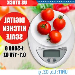 New Digital Kitchen Food Cooking Scale Weigh in Pounds, Gram