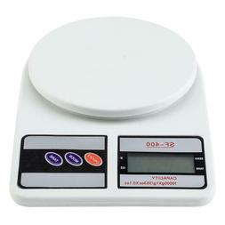NEW SF-400 10KG / 1g Kitchen Mail LCD Digital Scale White