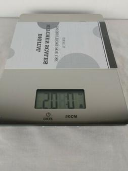 NWOT Mainstays Stainless Steel Digital Kitchen Scale Up To 1