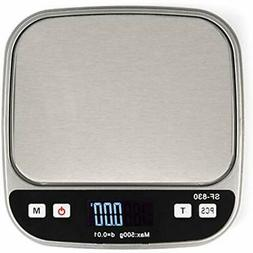 Portable Digital Kitchen Food Scale With Black Cover, 500 Gr