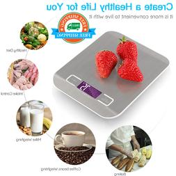 Stainless Steel Digital USB Kitchen Scales 10kg/5kg Electron
