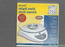 THE BIGGEST LOSER / TAYLOR GLASS DIGITAL KITCHEN SCALE / NEW